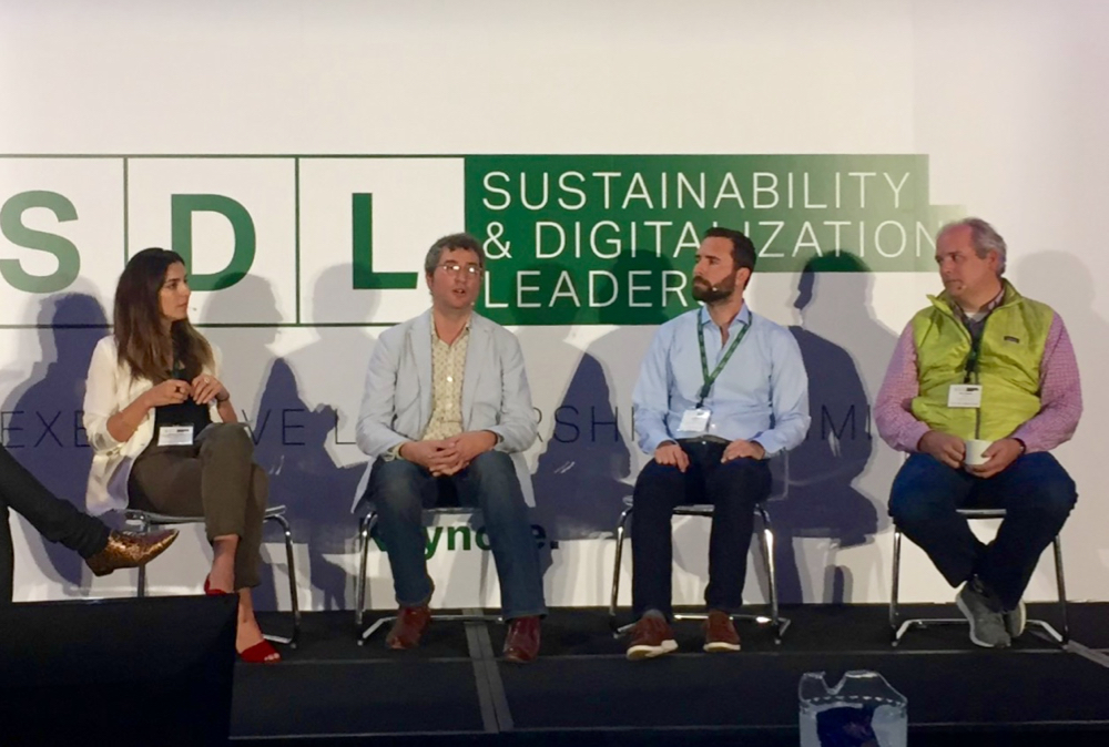 Panelists discuss blockchain at the Sustainability and Digitalization Leaders in Agriculture conference.