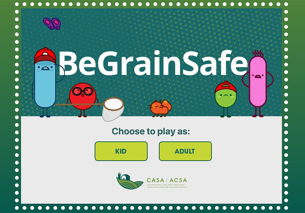 The online resource provides lots of information and interactive material, CASA said. It includes colouring sheets, a grain safety game and a video series on safety and health-related activities.