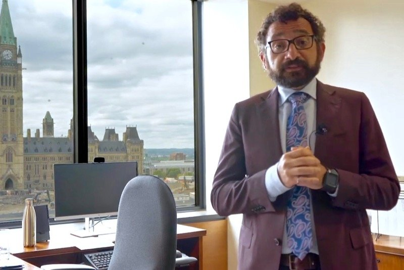 Mississauga MP Omar Alghabra is Canada's new federal transport minister. (Omar Alghabra video screengrab via YouTube)