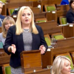 Agriculture critic MP Lianne Rood asks a question in the House of Commons.