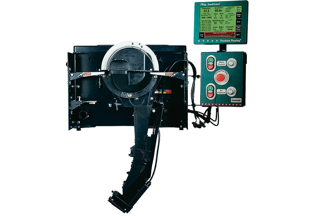 The Meter Max Ultra Test Stand calibrates any brand or type of meter. It drives the meter at the same speed and population the grower dials in.